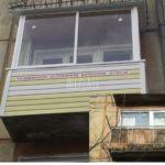 Балкон до и после остекления объект