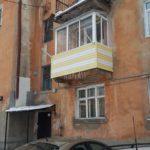 остекление балкона с крышей сталинка 9